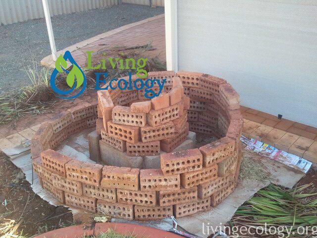 Step 1: Building an Herb spiral from Bricks