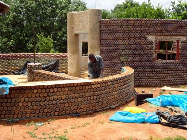 Home built using plastic bottles and mud in Nigeria #permaculture #livingecology